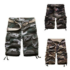 Mens Oversized Camo Military Cargo Combat Pants Casual Shorts Outdoor Work 32-38