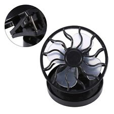Portable Solar Mini Clip-on Fan Outdoor Sun Powered Panel Cooling Cell Fan Black
