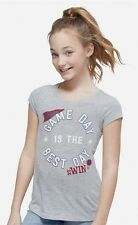 NWT JUSTICE Girls 7 10 12 16 Game Day Short Sleeve Graphic T-Shirt