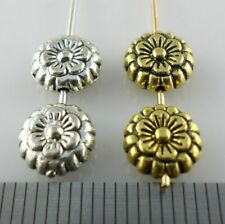 30/60/500pcs Tibetan Silver Flower Spacer Beads Charms Jewelry Findings 4x12mm