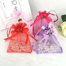 10pcs Tulip Drawstring Organza Wedding Gift Party Favor Jewelry Pouch Bag