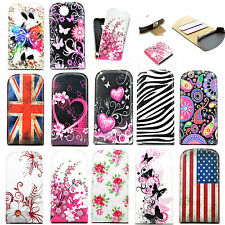 Vertical Flip Protector Leather Skin Phone Pouch Cover Case For Samsung Galaxy