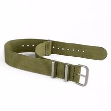 22/20/18mm Military Canvas Nylon Watch Strap Premium 3 Rings Replacement Band