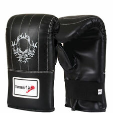 TurnerMAX Leather Boxing Punch Bag Mitts Gloves Training MMA