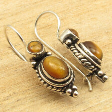 925 Sterling Silver Plated ANCIENT STYLE Earrings, Natural Gemstone Choices