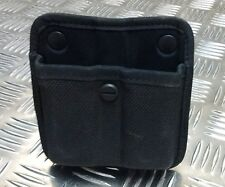 Genuine Bianchi MoD Military / Police Black Size 2 Twin Mag Ammo Pouch Open Top