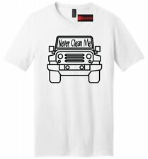 Never Clean Me Funny Mens V-Neck T Shirt Off Roading Mudding Truck Country Tee