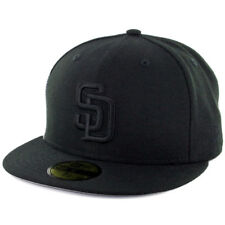 "New Era 59Fifty San Diego Padres ""Side Flect"" Fitted Hat (Black) Men's MLB Cap"