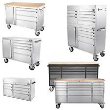 41/48/72 Inch Stainless Steel Rolling Tool Chest Tool Box Work Bench Roller E3R8