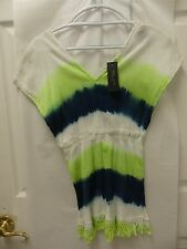 Romeo & Juliet Couture Tie Dye Fringe Bottom Shirt CBWCT - NWT