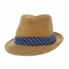 WITHMOONS Summer Straw Fedora Hat Cool Wide Tie Band Short Brim AC6724