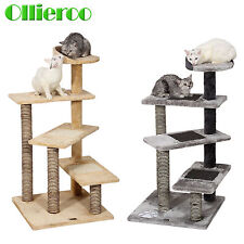 New Cat Tree Play House Gym Tower Condo Furniture Scratch Post Basket Swing