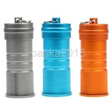 Waterproof Aluminum Medicine Pill Fob Container Box Bottle Case Key Chain Holder