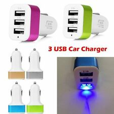 Universal 3 Ports USB Car Charger Charging Adapter For Samsung HTC LG Phone