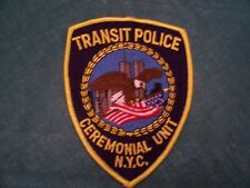 RAILROAD POLICE NYC TRANSIT CEREMONIAL UNIT PATCH