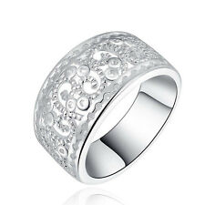 925 Silver Plated Wedding Ring Rings Charm Hollow Classic Hot Sale Women Jewelry
