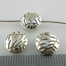 28/250pcs Tibetan Silver Tree Leaves Oblate Spacer Beads 10x4.5mm Jewelry Making