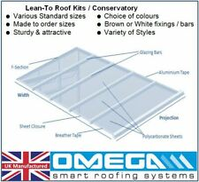 Lean To Roof Kit   Timber Supported  DIY -2.5m Projection, Polycarbonate 10-25mm
