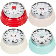 Retro Magnetic Kitchen Timer Mechanical Metal 60 Minute Countdown Tool