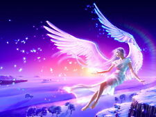 Angel Girl Snow Fairy Magic Fantasy Art Wall Print POSTER AU