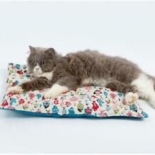 Lovely Little Fish Print Dual Purpose Pet Bed Pad Soft Cat Dog Cushion Pillow