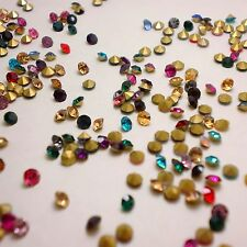 Mixed Colors Point back Rhinestones Crystal Glass Chatons Nail Art Strass U1