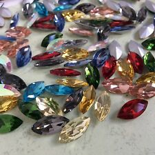 Mixed Navette Marquise Glitter Rhinestones Crystal Glass Jewelry Chatons Strass