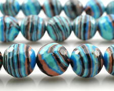 Blue Malachite Gemstone Beads Round Faceted Spacer Beads 6mm 8mm 10mm 12mm 15''