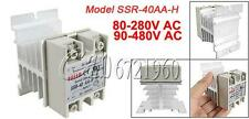 40A Solid State Relay Module SSR-40AA-H 80-280V AC / 90-480V  Aluminum Heat Sink