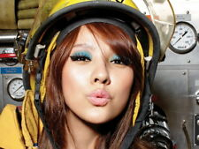 Hot Japanese Firefighter Girl Lips Kiss Wall Print POSTER US