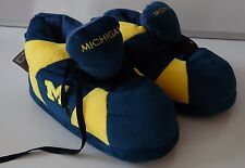 UNIVERSITY OF MICHIGAN NCAA COMFY FEET PLUSH BOOT STYLED SLIPPERS NEW