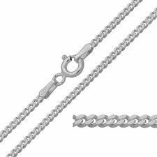 "925 Sterling Silver CURB Chain Necklace 16 18 20 22 24 26 28 30"" 2mm NEW"