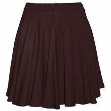 LADIES STRETCH SKATER SKIRT WOMENS MINI PARTY FLARED FULL CIRCLE SUMMER SKIRTS