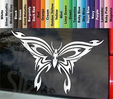 Butterfly Tribal Flame Firey Uniqe Vinyl Vehicle STICKER DECAL Color Size Choice