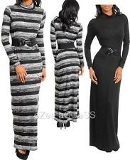 SeXY WoMeNS DReSS TuRTLe HiGH NeCK BeLTeD LoNG SLeeVeS MaXi SWeaTeR DReSS S,M,L