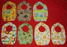NEW cute CHILD BABY BIB Jungle Safari monkey zebra elephant lion giraffe hippo