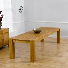Madrid 3M Solid Oak Dining Table (Size 2.4m,2m,3m And Colours Oak/Dark Oak)