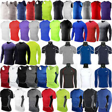 Mens Compression Under Shirt Base Layer Tight Tops Sports T-Shirt Athletic Wear