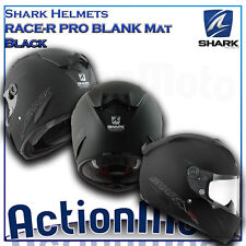 Helmet Helmet Integral Shark RACE-R PRO BLANK Mat Black mat motorcycle scooter