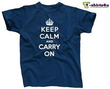 KEEP CALM CARRY ON Chive Chivery KCCO British Meme War Poster T-Shirt NEW Blue