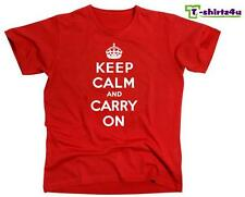 KEEP CALM CARRY ON Chive Chivery KCCO British Meme War Poster T-Shirt NEW Red