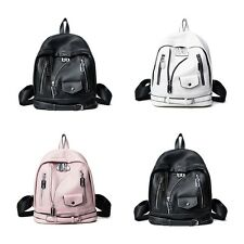Fashion PU Leather Punk Style Rivet Women Angel Wing School Book Bag Backpack