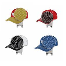 Alloy Golf Hat / Cap / Visor Clip with Magnetic Ball Marker Pocket Size