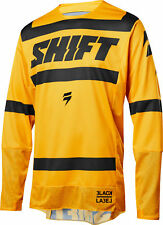 Shift Racing Mens Yellow/Black Black Label Strike Dirt Bike Jersey ATV MX 2018