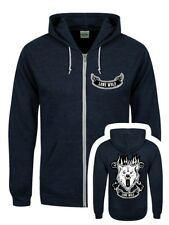 Lone Wolf Navy Heather Zipped Hoodie