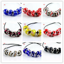 5pcs SILVER MURANO GLASS BEAD fit European Charm Bracelet Making