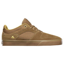 "Emerica ""The HSU Low Vulc"" Sneakers (Brown/Gum) Mens Canvas Suede Skate Shoes"