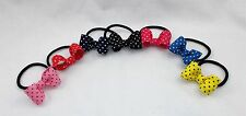 New Rockabilly Polka Dot Bow Ponytail Holder 7 Colors Available to Pick From