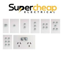 Opal Touch Light Switch Power Point Glass Look Saturn GPO LED Clipsal Compatible