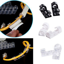 20pcs Self-adhesive Wire Organizer Line Cable Clip Buckle Plastic Clips Holder